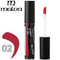 Malva Блеск для губ M-490 Velvet Matte Тон 02 deep red матовый