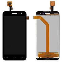 Дисплей (экран) для телефона Jiayu G2F + Touchscreen Original Black