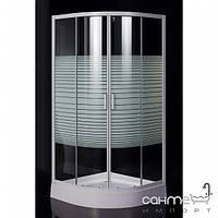 Душевые кабины, двери и шторки для ванн Eger Душевая кабинка Eger TISZA 599-021-A стекло Frizek с поддоном