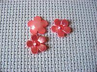 Декоративная фигурка из пластика, Цветок, 12 мм, розовый