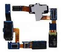 Шлейф для Samsung i8150 Galaxy W с разъемом гарнитуры и слуховым динамиком (Speaker)