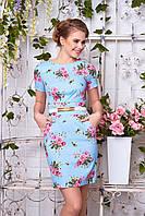 Летнее женское платье с принтом Кьяра 7 Arizzo 44-52 размеры