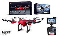 """Квадрокоптер RUNQIA RQ77-15: HD-камера 2 Mpx, WI-FI FPV, 5.8G, с экраном 5"""" - Красный"""