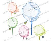 Сачок для бабочек M 0078 U/R, длина 124 см, ручка 100 см, сачок диаметром 24 см, бамбук, 5 цветов, развлечение