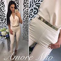 Женский красивый комбез брюки с поясом (3 цвета)