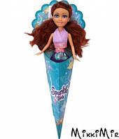 Очаровательная русалочка Роксана (25 см), Sparkle girlz. Funville, каштановые волосы, в сиреневом, Голубой