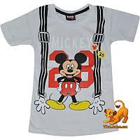 """Детская летняя футболка """"Крутой Микки"""" , с принтом , для мальчика (1-4 лет) 4 ед. в уп."""