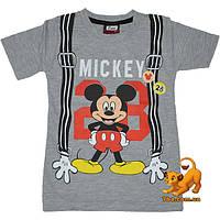 """Детская летняя футболка """"Крутой Микки"""" , с принтом , для мальчиков (1-4 лет) 4 ед. в уп."""