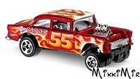 55 Chevy Bel Air Gasser, Автомобиль базовый Hot Wheels, Mattel, 55 chevy bel air gasser, Красный