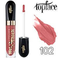 TopFace Блеск для губ Wet&Thick PT-203 Тон 102 rose caramel матовый
