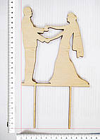 Топер Молодожены держащиеся за руки 24,5 х 13,5 см