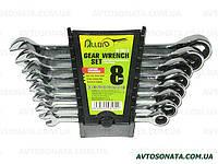 Набор ключей рожково-трещоточных  8шт 8-19 мм. ALLOID НК-2081-8