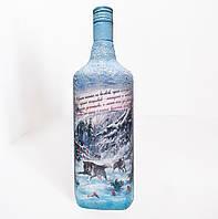 """Подарочное оформление бутылки """"Идет охота на волков..."""". Подарок для мужчины охотника, фото 1"""