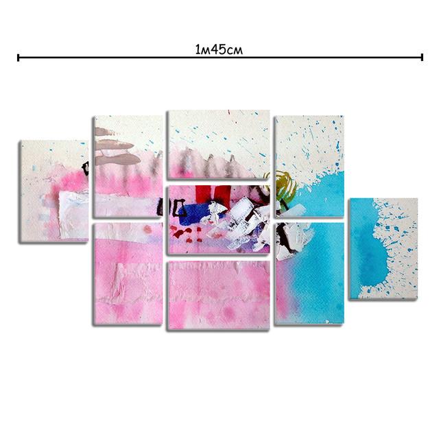 Модульные картины на холсте с принтом Нежные краски