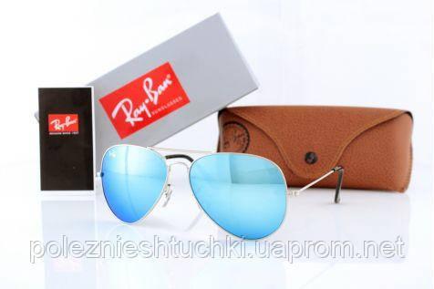Очки солнцезащитные Ray Ban Оригиналы Модель 3026D-blue-s