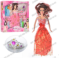 Кукла с нарядом 607А-3, кукла 28 см, платья 12 шт, корона, 2 цвета, в коробке 36*32,5*5 см