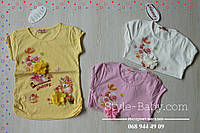 Детская футболка для девочки с цветком 3 цвета размер 2,3,5 лет