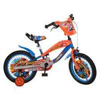 Велосипед PROFI RACING детский 16д. SX16-01-R (1шт) сине-оранжевый,прист.колеса,в кор-ке,72-40-19см