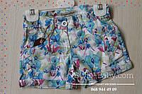 Детские шорты для девочек под ремень Цветы размер 2,3,4,5,6 лет