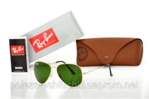 Очки солнцезащитные Ray Ban Оригиналы Модель 3025D-green-gold