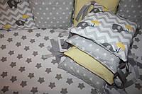 Детское постельное белье желтые слоники