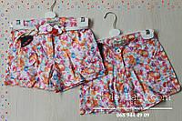 Детские шорты для девочек под ремень Цветы размеры 6-7,8,9,10,11 лет