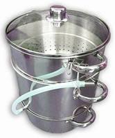 Соковарка помощница 8 л, приготовление сока из ягод, овощей и фруктов, нержавеющая сталь
