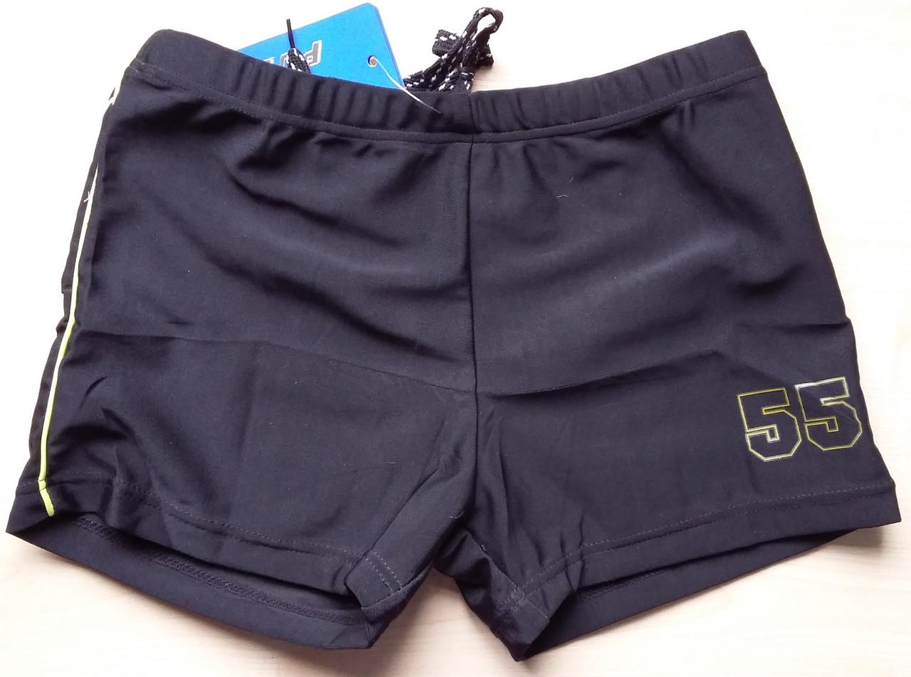 Плавки-шорты для мальчика однотонные на шнурке