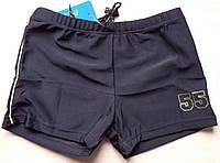 Плавки-шорты для мальчика однотонные на шнурке, фото 1