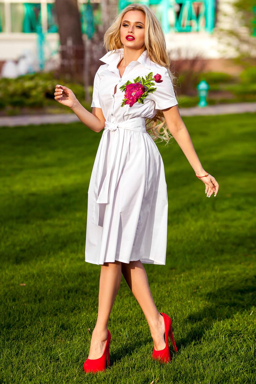Платье в рубашечной стиле