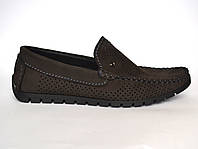 Обувь подросток. Летние мокасины замшевые коричневые с перфорацией Rosso Avangard mS Cross Brown