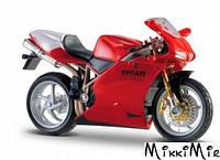 Модель мотоцикла Ducati 998R (красный), 1:18, Bburago, Ducati 998 R (красный), Красный