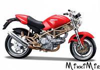 Модель мотоцикла Ducati Monster 900 (красный), 1:18, Bburago, Ducati Monster 900 (красный), Красный