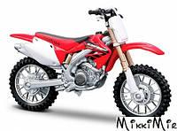 Модель мотоцикла Honda CRF450R (красный), 1:18, Bburago, Honda CRF450R, Красный