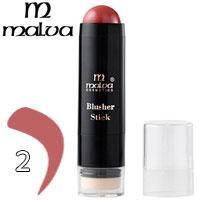 Malva - Румяна-стик со спонжем Blusher Stick M-485 Тон 02 розово теракотовые матовые