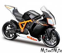Модель мотоцикла KTM 1190 RC8 R (черный), 1:18, Bburago, KTM 1190 RC8 R (черный), Черный