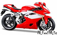 Модель мотоцикла MV Agusta F4 RR 2012 (красный), 1:18, Bburago, MV Agusta F4 RR 2012 (красный), Красный