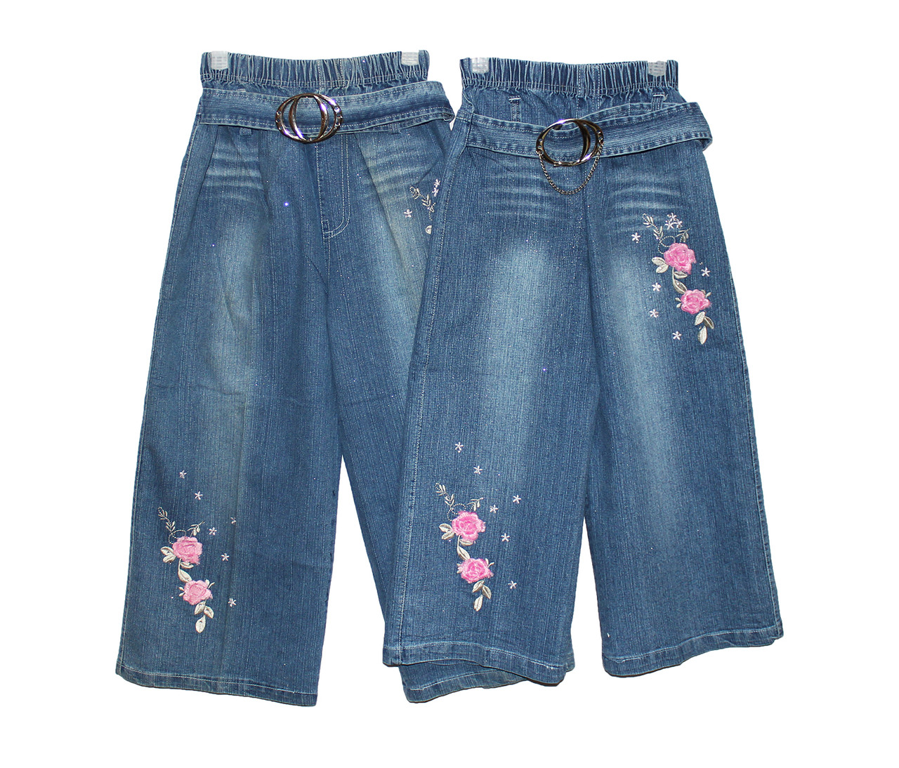 Дитячі джинсові бриджі для дівчинки