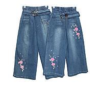 Дитячі джинсові бриджі для дівчинки, фото 1