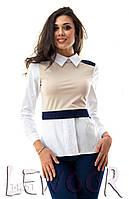 Молодёжная блузка с застёжками сзади