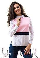 Блузка женская сзади на пуговицах (бенгалин + дайвинг)