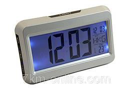 Настольные часы-будильник с термометром,подсветкой