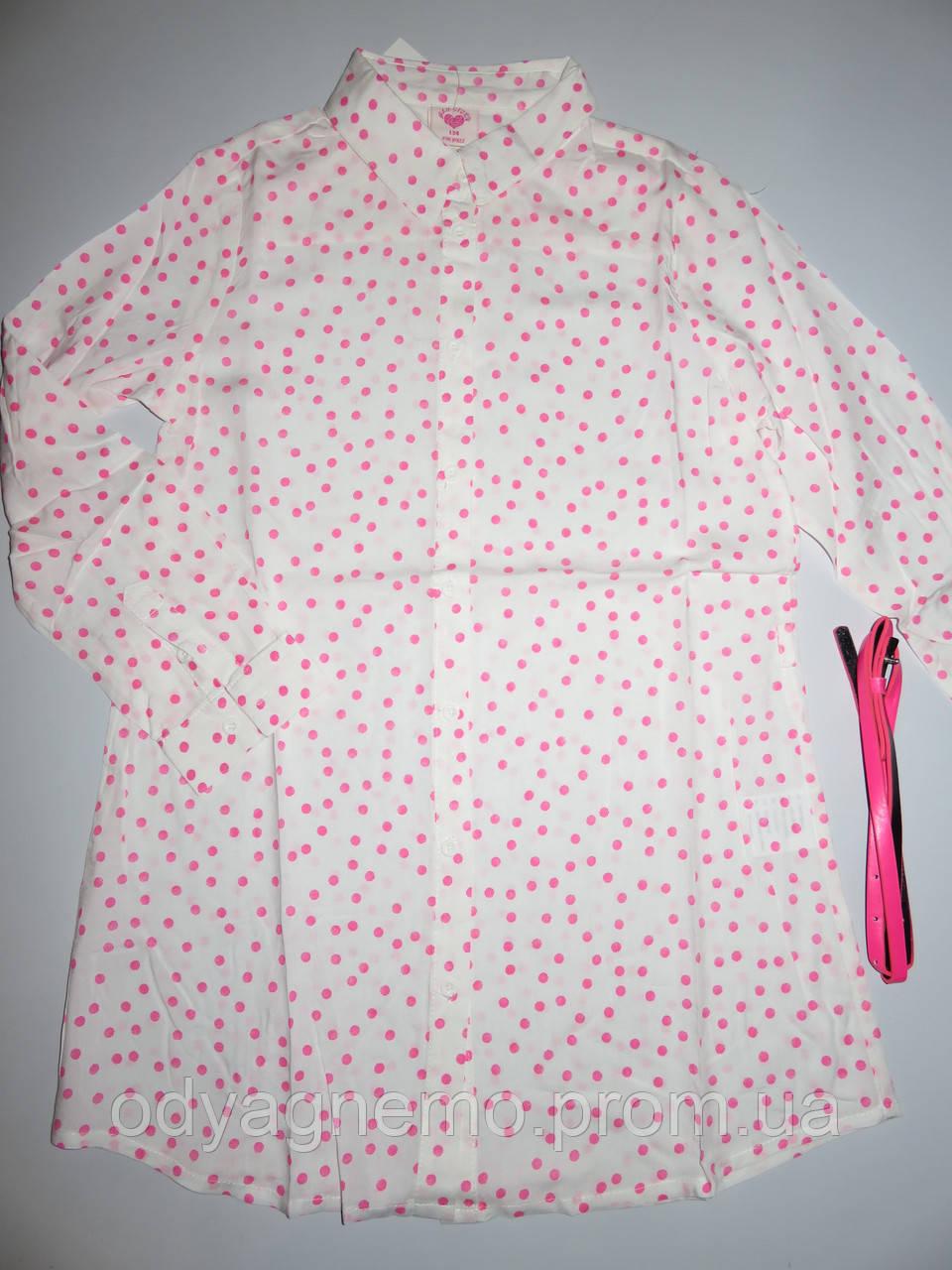 Платье-рубашка для девочек Glo-Story оптом,134-164 рр.
