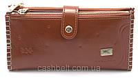 Женский мягкий кошелек рыжего цвета SACRED art.FW-0918, фото 1