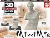 Пазл 3D EDUCA Скульптура, Венера Милосская, 190 элементов, Белый