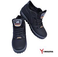Мужские зимние кожаные ботинки, Splinter, черные, серая подошва