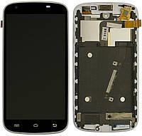 Дисплей (экран) для телефона Qumo Quest 506 + Touchscreen with frame Original White