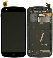 Дисплей (экран) для телефона Qumo Quest 506 + Touchscreen with frame Original Black