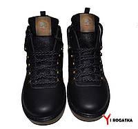 Мужские зимние кожаные ботинки, SPLINTER, черные, прошитые, на меху