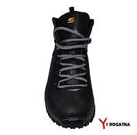 Мужские зимние нубуковые ботинки, SPLINTER, черный, прошитые